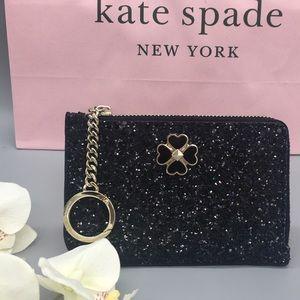 Kate Spade medium I-Zip card holder odette gliter